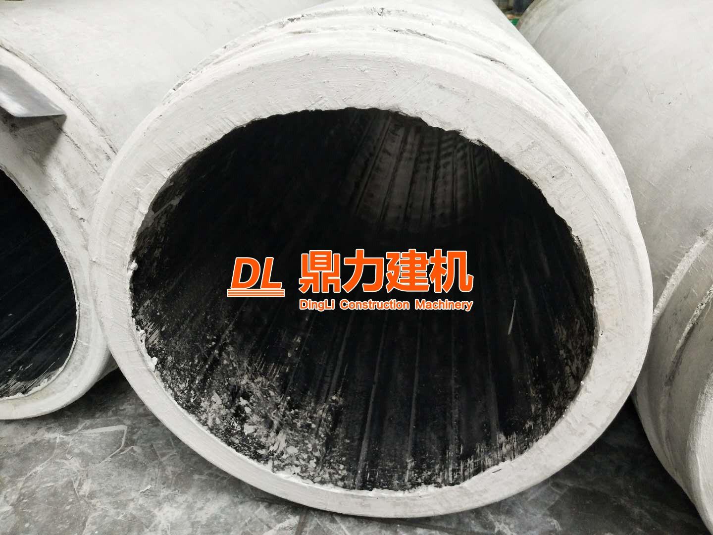 广东佛山内衬PVC芯模振动制管机设备施工现场
